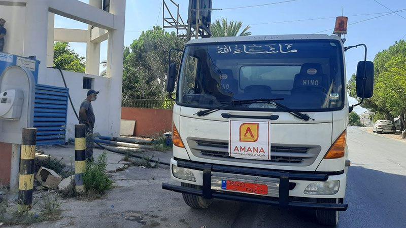 حزب الله يفتتح حملة توزيع المازوت المجاني لضخ المياه في بلدات صيدا