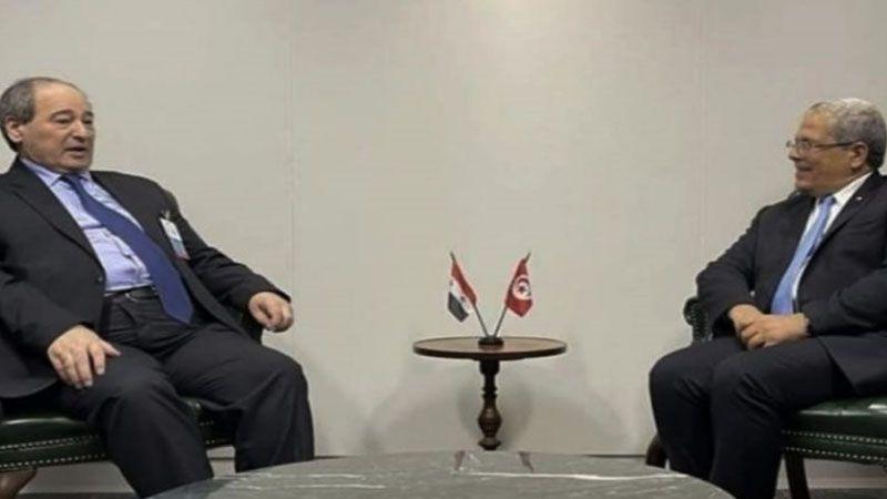 لقاء تاريخي بين وزيري خارجية تونس وسوريا يمهّد لعودة العلاقات