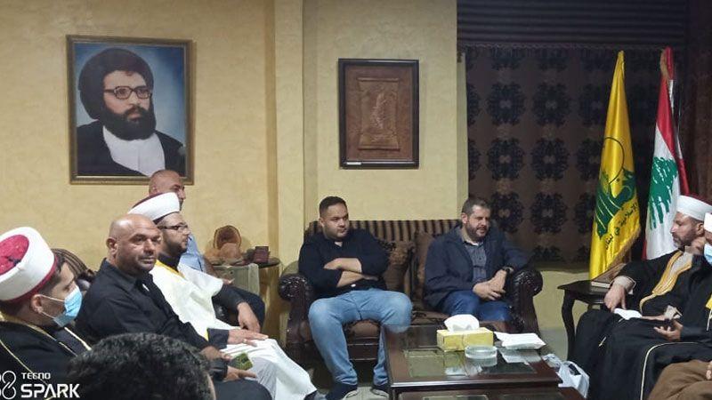 حزب الله استقبل وفدًا علمائيًا فلسطينيًا في صيدا