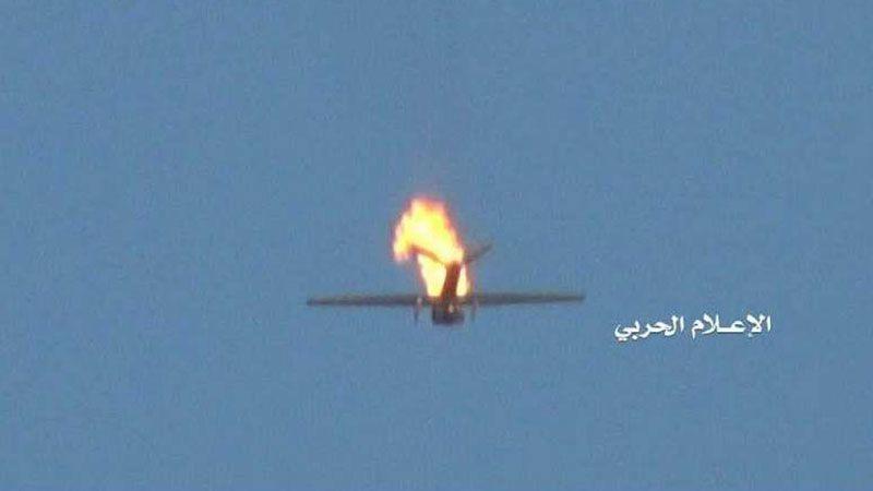 اليمن: إسقاط طائرة مقاتلة من دون طيار تابعة للعدوان في أجواء مأرب