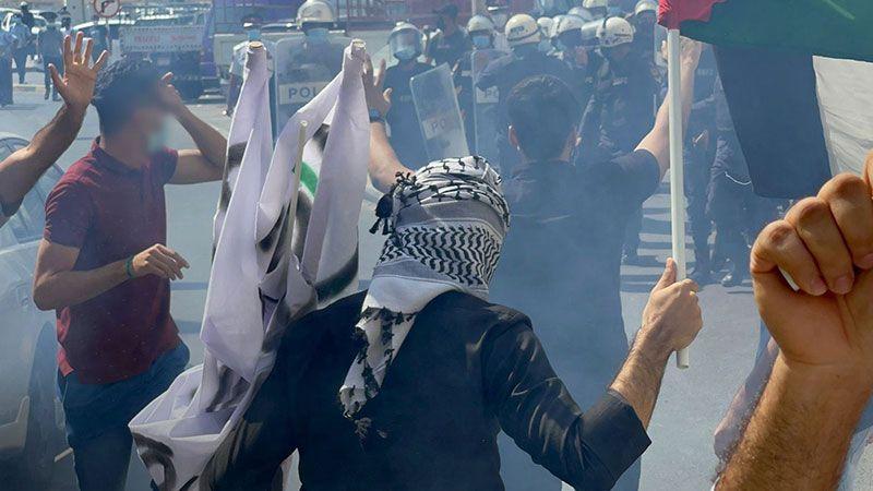 الشعب البحريني يجدد رفضه لتطبيع نظام آل خليفة