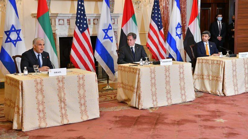 إيران مادة أولى خلال اجتماع أمريكي اسرائيلي إماراتي