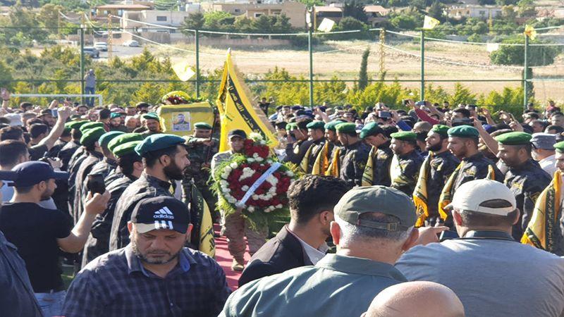 حزب الله يشيع الشهيد حامد الهق في بلدة الكواخ