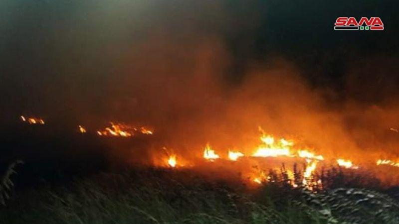 الاحتلال يفتعل حريقًا في الجولان المحتل