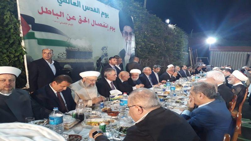 السفارة الايرانية أقامت إفطارها لمناسبة يوم القدس .. فيروزنيا: لن نسمح لأميركا بأن تحقق أهدافها
