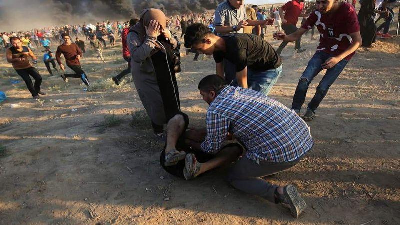 """عشرات الاصابات في جمعة """"لا اعتراف بالكيان"""" .. وإصرار على مواصلة مسيرات العودة"""