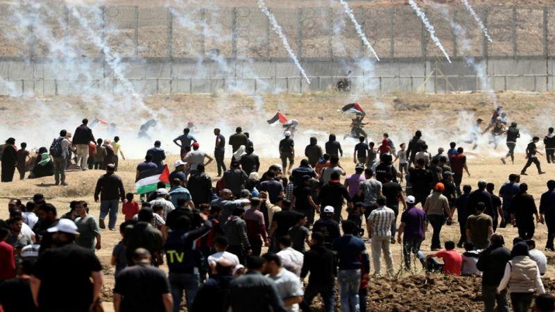 عشرات الإصابات برصاص الاحتلال في مليونية العودة وكسر الحصار شرق قطاع غزة