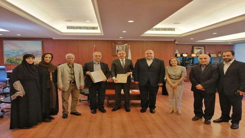 الجامعة اللبنانية توقع اتفاقية تعاون مع جامعة العلامة الطباطبائي الإيرانية