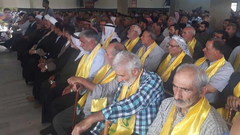 حزب الله يحيي ذكرى أربعين الشهيد المجاهد حامد حسين الهق