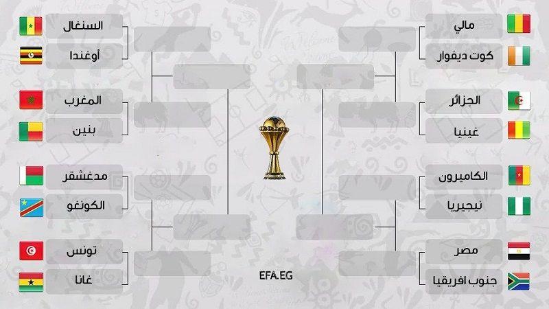 المنتخبات المتأهلة لدور الـ16 من كأس الأمم الإفريقية وجدول المباريات
