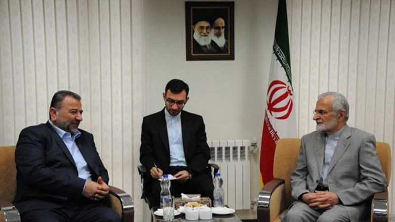 خرازي مستقبلا وفد حماس: تحرير فلسطين أحد تطلعات الجمهورية الاسلامية
