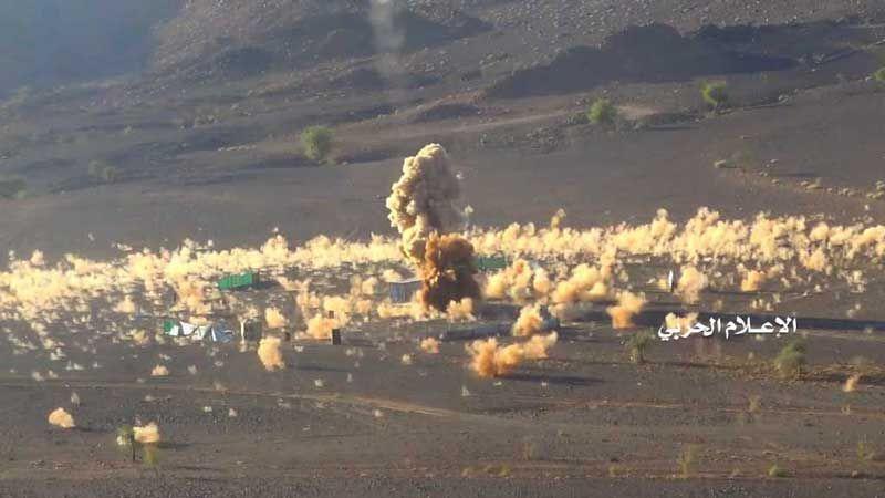 ضربة استباقية بصاروخ بدرF الباليستي تدك معسكرا للجيش السعودي ومرتزقته قبالة نجران