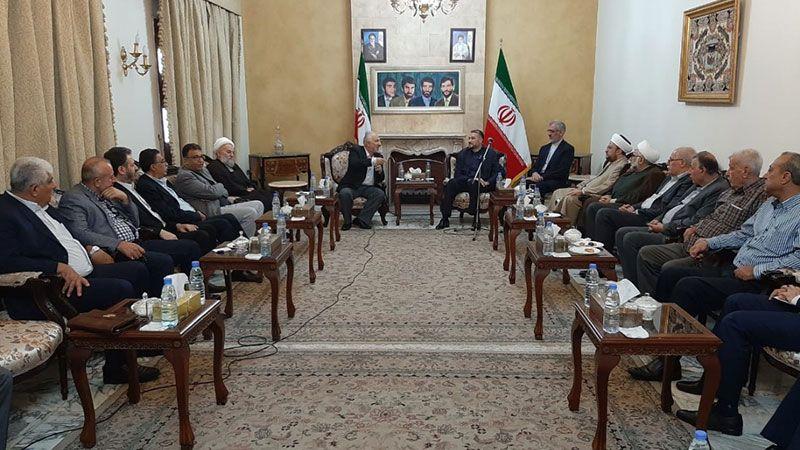 عبد اللهيان إلتقى وفدًا من لجنة دعم المقاومة في فلسطين