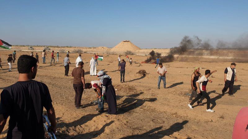 """جمعة """"مجزرة واد الحمص"""": إصابة عشرات الفلسطينيين برصاص الاحتلال شرق قطاع غزة"""