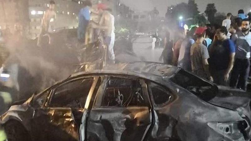قتلى وجرحى بانفجار نجم عن تصادم 4 سيارات في القاهرة