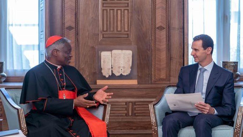 الرئيس الأسد يتسلم رسالة خطية من البابا فرنسيس