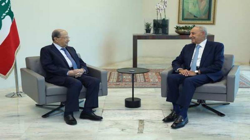 رئيس الجمهورية بحث مع الرئيس بري في توحيد الجهود لمعالجة احداث قبرشمون