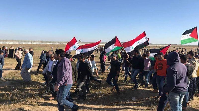 إصابة عشرات الفلسطينيين جراء قمع الاحتلال الإسرائيلي مسيرات العودة شرق قطاع غزة