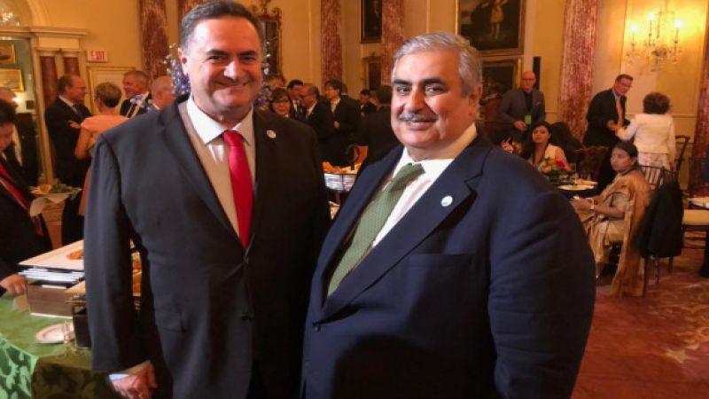 لقاء علني ومصوّر بين وزير الخارجية الصهيوني ونظيره البحريني