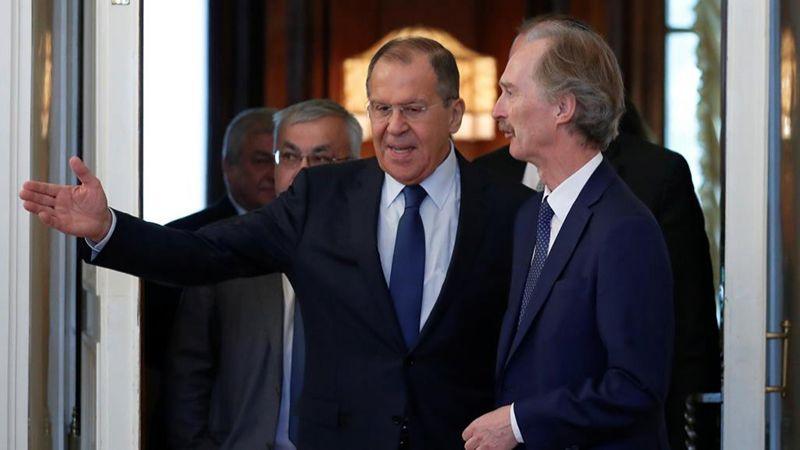 لافروف يلتقي بيدرسون وسط مواقف إيجابية حول سوريا