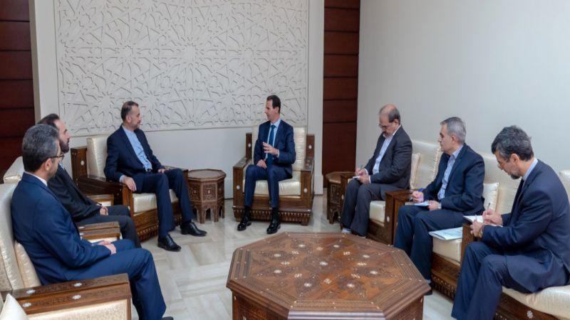 الأسد يجدّد دعم سوريا لإيران في وجه التهديدات الأمريكية