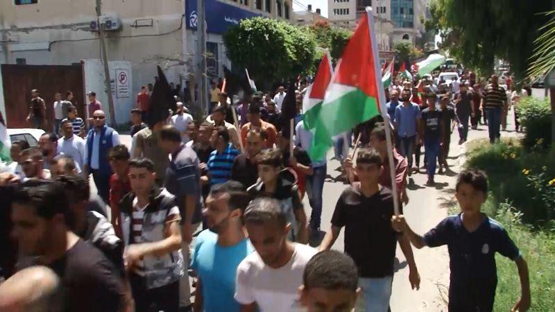 """مسيرات فلسطين """"لا تكل"""" ومستمرة ضد مؤتمر البحرين"""