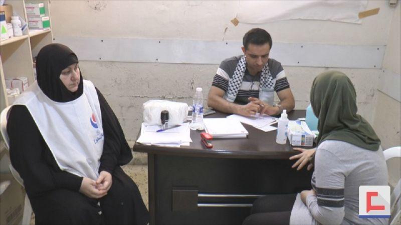 جمعية الاطباء الرساليين الإيرانية بالتعاون مع الهيئة الصحية تعاين مرضى مخيم البداوي