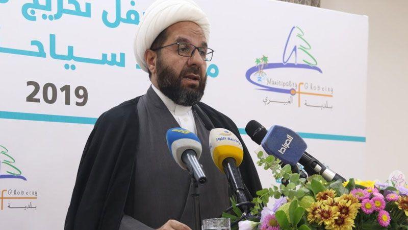 الشيخ دعموش: ورشة المنامة خيانة موصوفة لفلسطين والقدس