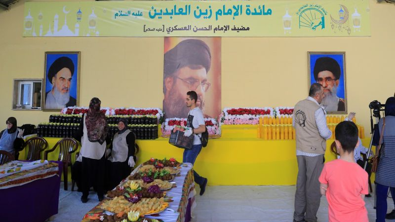افتتاح المطبخ الرمضاني لمائدة الامام زين العابدين (ع) في القطاع السابع