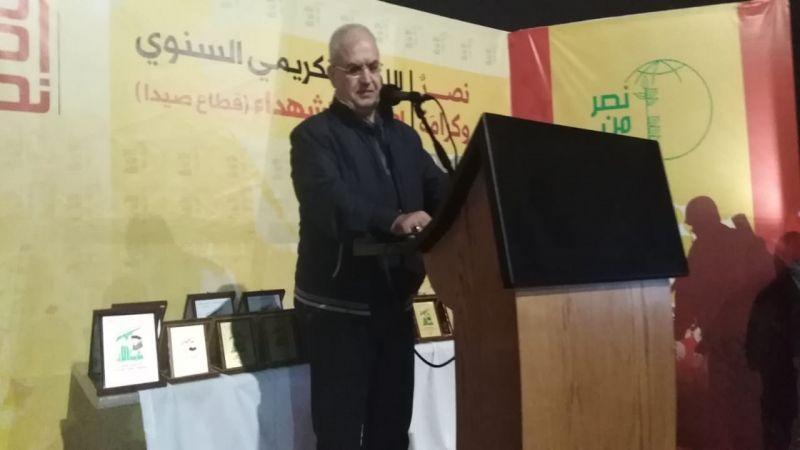 رعد خلال تكريم منطقة صيدا في حزب الله لعوائل الشهداء والجرحى: المقاومة أصبحت قوة في وجدان الشعوب