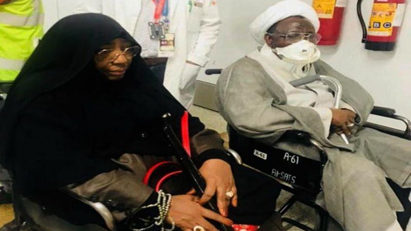 بالصور: الشيخ الزكزاكي وزوجته يصلان إلى المستشفى في الهند لتلقي العلاج