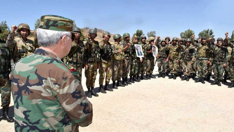 وزير الدفاع السوري يقوم بزيارة ميدانية إلى بلدة الهبيط بريف إدلب بتوجيه من الرئيس الأسد