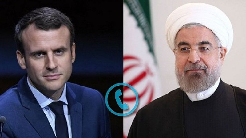 روحاني لماكرون: إيران هي الضامن الرئيس لحرية الملاحة في الخليج