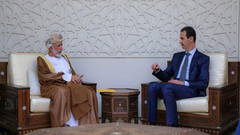 الرئيس الأسد يناقش مع بن علوي محاولات طمس الحقوق العربية التاريخية