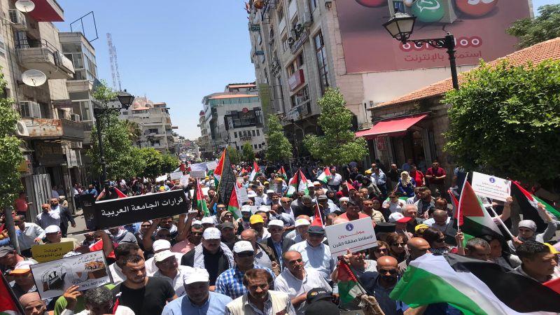 فعاليات فلسطين المناهضة لورشة البحرين تتواصل في غزة والضفة