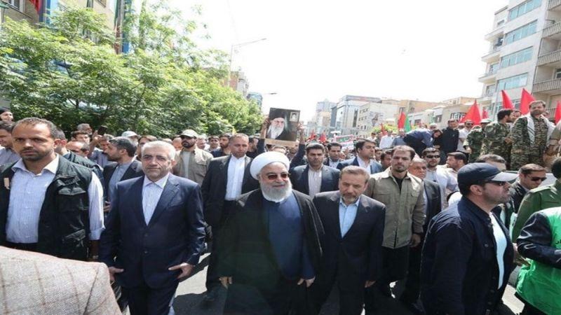 """في يوم القدس .. مسؤولون ايرانيون لـ """"العهد"""": صفقة القرن مصيرها الفشل"""
