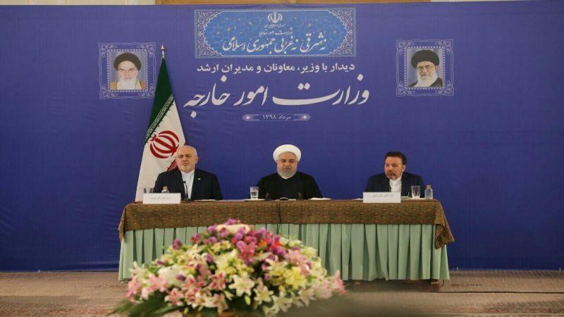 روحاني: ظريف يمثّل الشعب الإيراني ولا حوار قبل رفع العقوبات