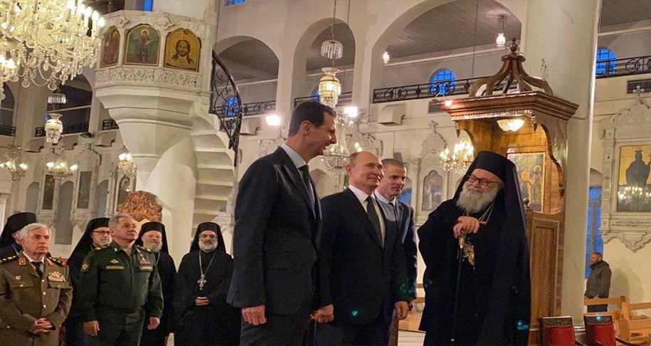 بوتين يلتقى الأسد في دمشق: قطعنا شوطًا كبيرًا في إعادة بناء الدولة السورية ووحدة أراضيه
