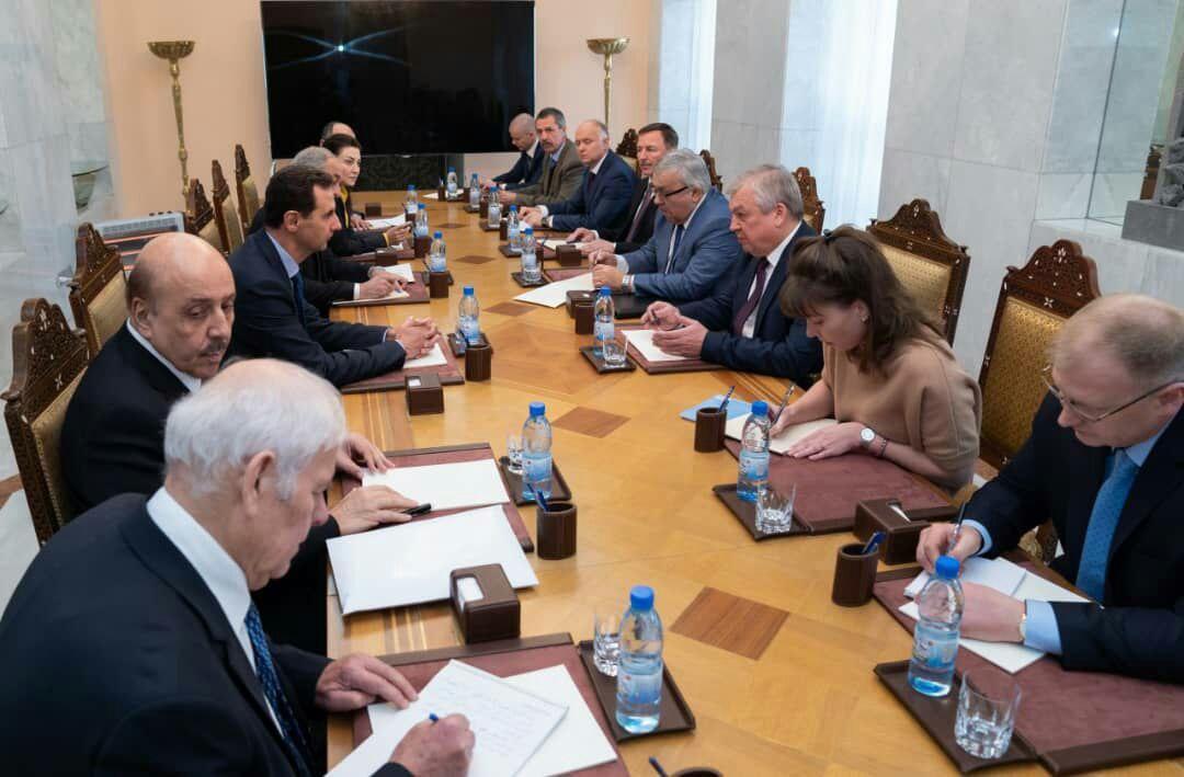 حلب وإدلب محور لقاء الرئيس الأسد بالوفد الروسي