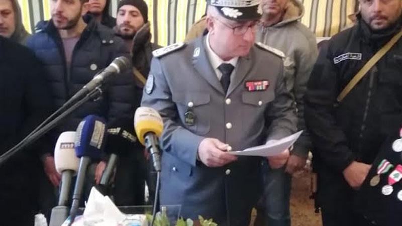 شهيدا قوى الأمن العطار وشريف إلى مثواهم الأخير